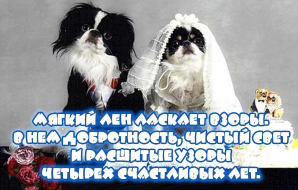 Поздравления в прозе с льняной свадьбой мужу от жены 21